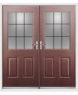 Windsor French Rockdoor in Rosewood with Square Lead