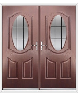 Montana French Rockdoor in Rosewood with Square Lead