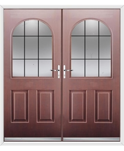 Kentucky French Rockdoor in Rosewood with Square Lead