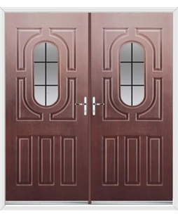 Arcacia French Rockdoor in Rosewood with Square Lead