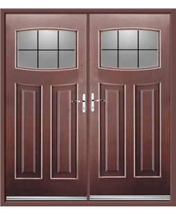 Newark French Rockdoor in Rosewood with Square Lead