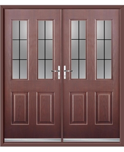 Jacobean French Rockdoor in Rosewood with Square Lead