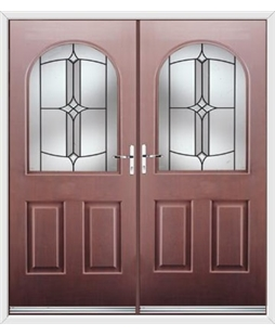 Kentucky French Rockdoor in Rosewood with Summit