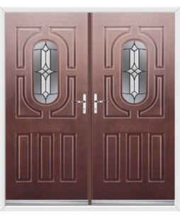 Arcacia French Rockdoor in Rosewood with Summit