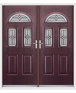 Tennessee French Rockdoor in Rosewood with Summit