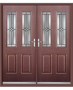 Jacobean French Rockdoor in Rosewood with Summit