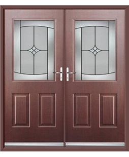 Windsor French Rockdoor in Rosewood with Summit