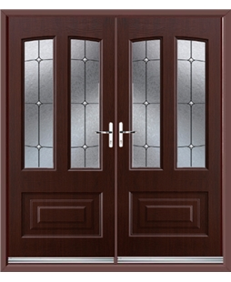 Illinois French Rockdoor in Rosewood with Trinity