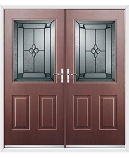 Windsor French Rockdoor in Rosewood with Titania Glazing