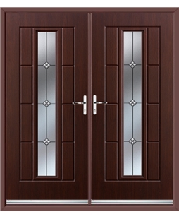 Vermont French Rockdoor in Rosewood with Trio