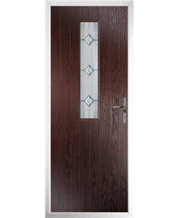 The Sheffield Composite Door in Rosewood with Simplicity