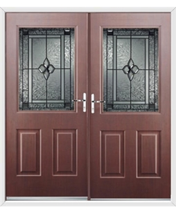 Windsor French Rockdoor in Rosewood with Triton Glazing