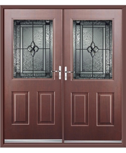 Windsor French Rockdoor in Rosewood with White Diamonds