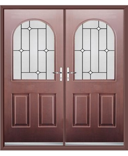 Kentucky French Rockdoor in Rosewood with White Diamonds