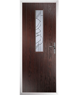 The Sheffield Composite Door in Rosewood with Zinc Art Abstract
