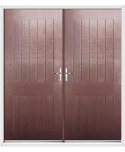 Tongue & Groove French Rockdoor in Rosewood