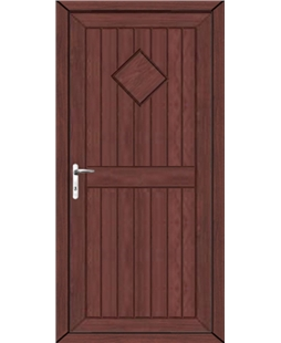 Torquay Diamond Solid uPVC High Security Door  In Rosewood
