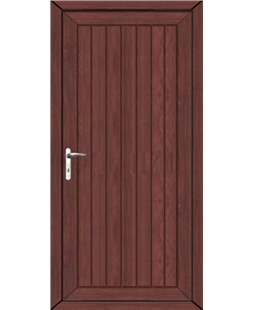 Upney Solid uPVC High Security Door In Rosewood