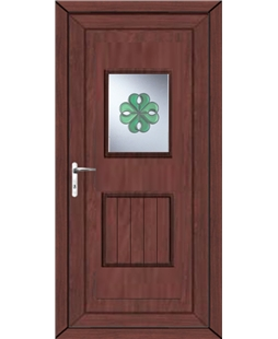 Luton Irish Bevel uPVC High Security Door In Rosewood