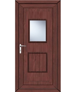 Luton Large Glazed uPVC High Security Back Door In Rosewood
