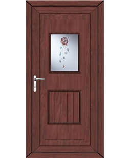 Luton Resin Rose uPVC High Security Door In Rosewood