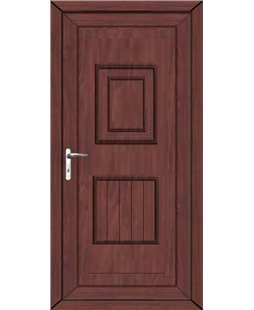 Luton Solid uPVC High Security Door In Rosewood