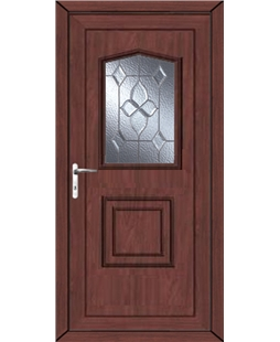 Portsmouth Bevel Cluster uPVC High Security Door In Rosewood
