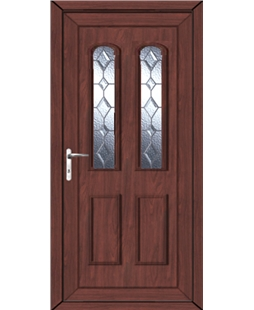 Northampton Bingley Bevel uPVC High Security Door In Rosewood