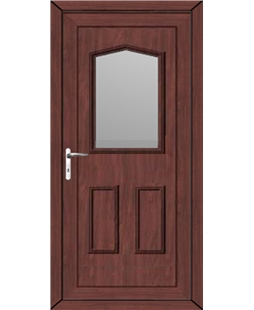 Oswestry Glazed uPVC High Security Back Door In Rosewood