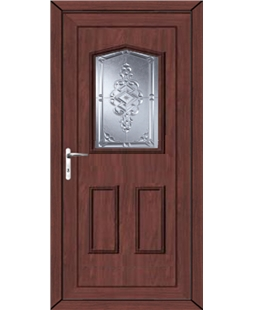 Oswestry Connah uPVC High Security Door In Rosewood