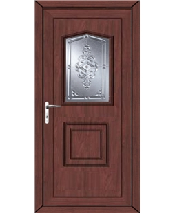 Portsmouth New Connah uPVC High Security Door In Rosewood