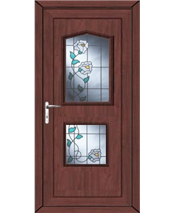 Portsmouth Primrose 2 Glazed Apertures uPVC High Security Door In Rosewood