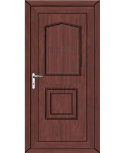 Portsmouth Solid uPVC Back Door In Rosewood