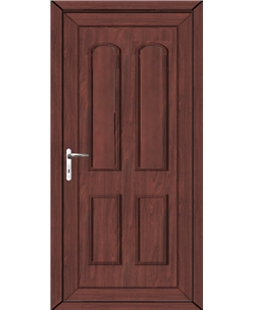 Northampton Solid uPVC High Security Back Door In Rosewood