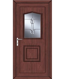 Portsmouth Traditional Tulip uPVC Door In Rosewood