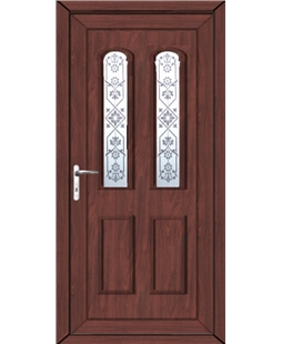 Northampton Victorian Blast uPVC High Security Door  In Rosewood