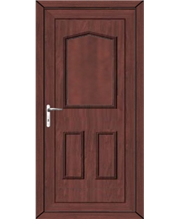 Oswestry Solid uPVC High Security Door In Rosewood