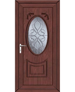 Middlesbrough Ice Cluster uPVC High Security Door In Rosewood