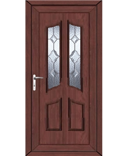 Rochdale Star Cut Bevel uPVC High Security Door In Rosewood