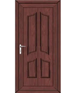 Rochdale Solid uPVC High Security Door In Rosewood