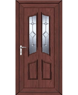 Rochdale Baildon Bevel uPVC High Security Door In Rosewood