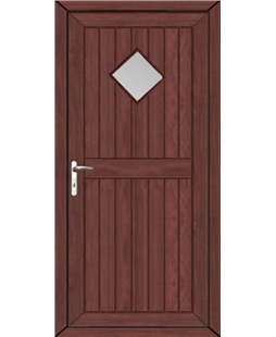 Torquay Diamond Glazed uPVC High Security Door In Rosewood