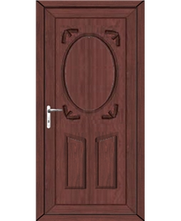 Stoke Solid uPVC High Security Door In Rosewood