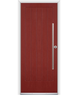 Ultimate Indiana Rockdoor in Ruby Red with Bar Handle