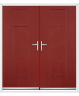 Indiana French Rockdoor in Ruby Red