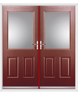 Windsor French Rockdoor in Ruby Red with Glazing