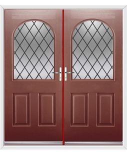 Kentucky French Rockdoor in Ruby Red with Diamond Lead