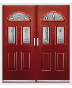 Tennessee French Rockdoor in Ruby Red with Dorado Glazing