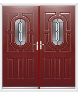 Arcacia French Rockdoor in Ruby Red with Ellipse