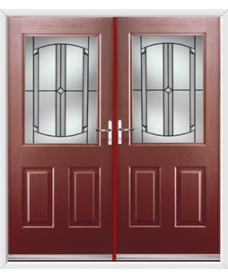 Windsor French Rockdoor in Ruby Red with Ellipse